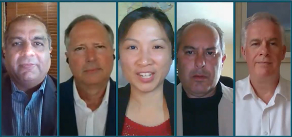写真左からAmol Mitra氏、Tim Peters氏、Sandy Ono氏、Jim Rapoza氏、Paul Sheeran氏
